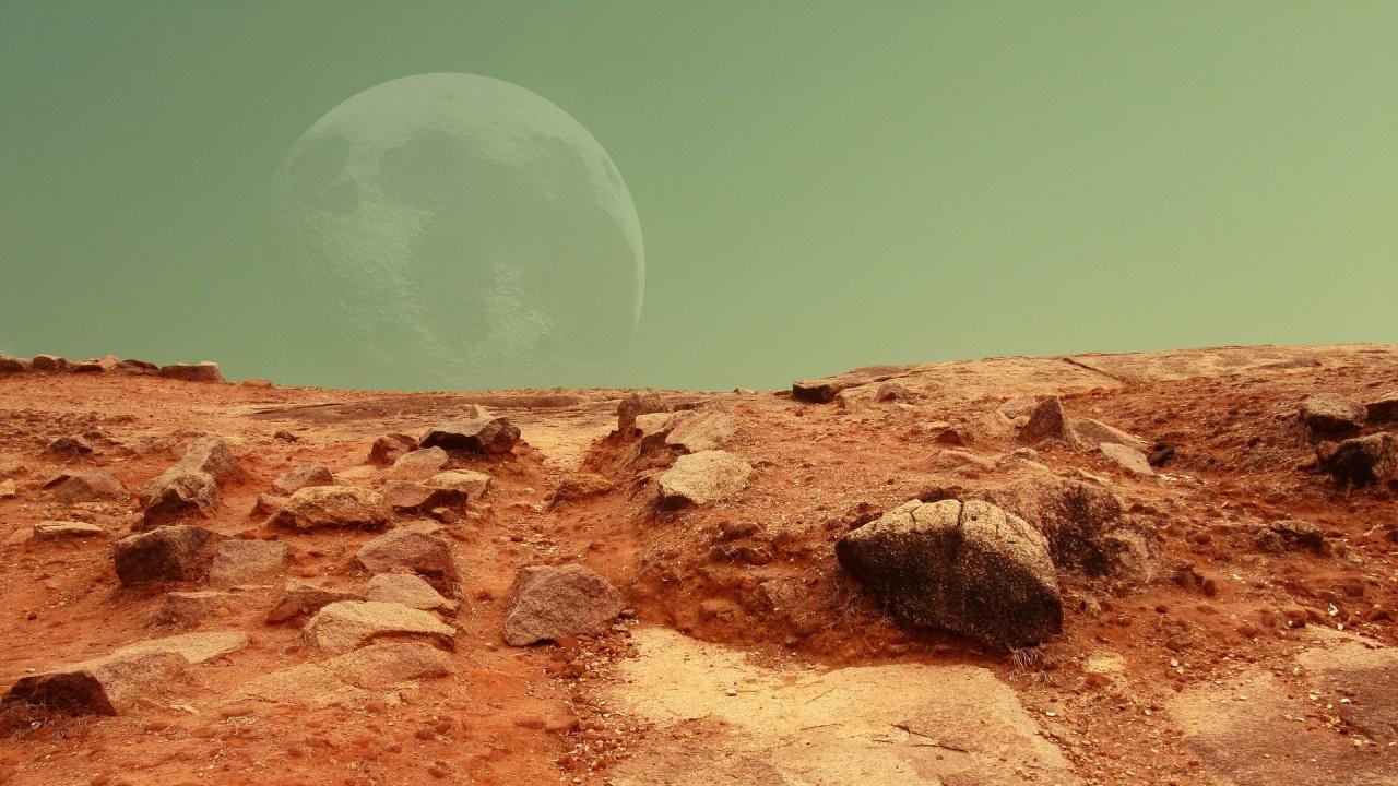 14-килограмов камък от Марс на изложба в САЩ