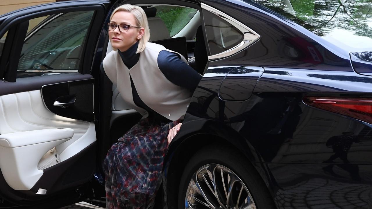 Принцесата на Монако Шарлен  излезе от болницата