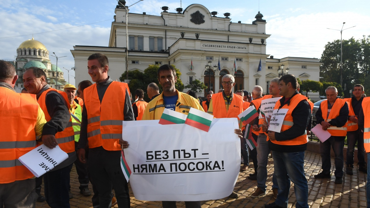 Пътни строители на среща с Румен Радев