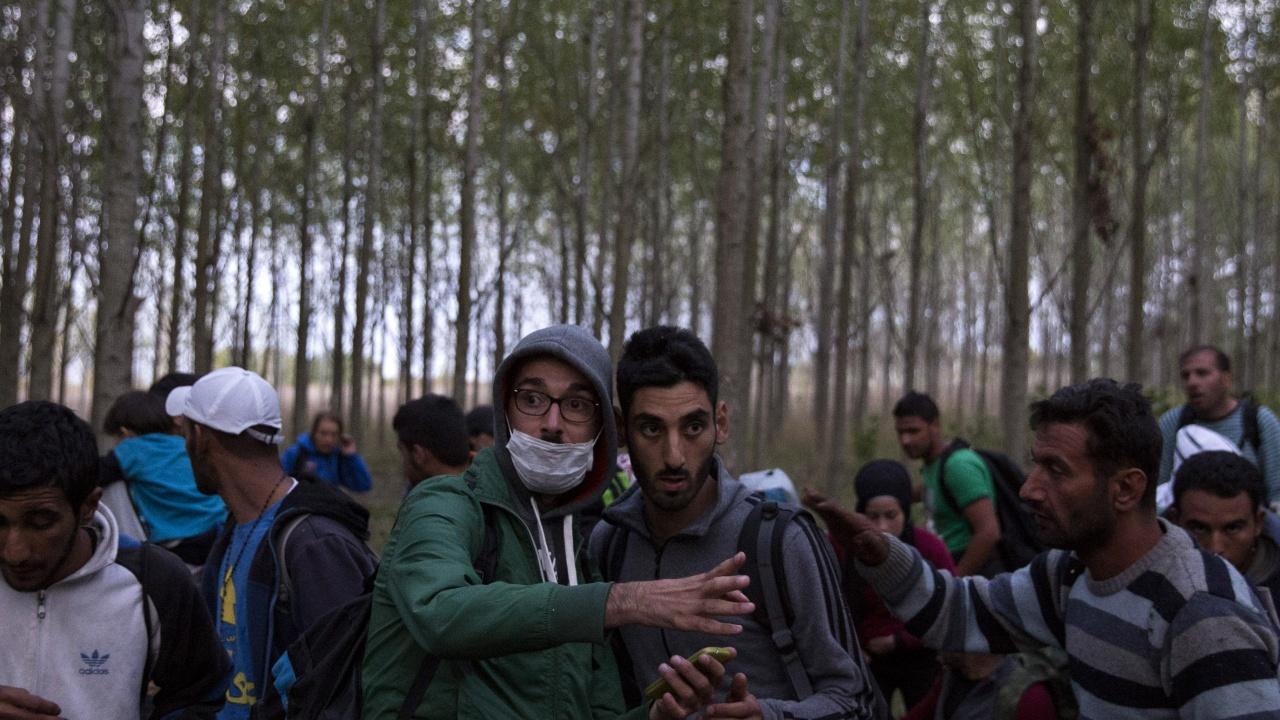 Заловената банда за трафик на хора изоставяла мигрантите да нощуват в гората