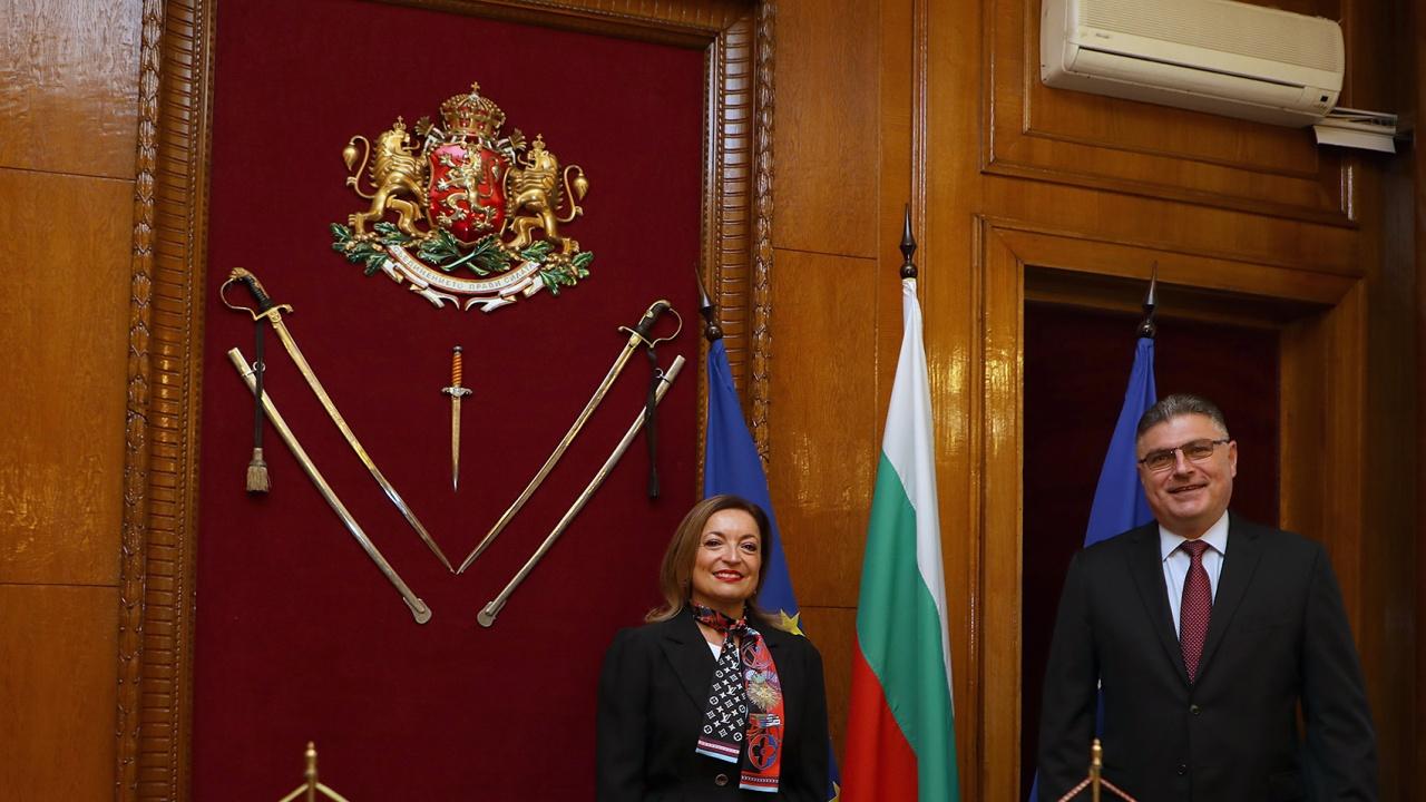 Георги Панайотов проведе среща с извънредния и пълномощен посланик на Италианската република