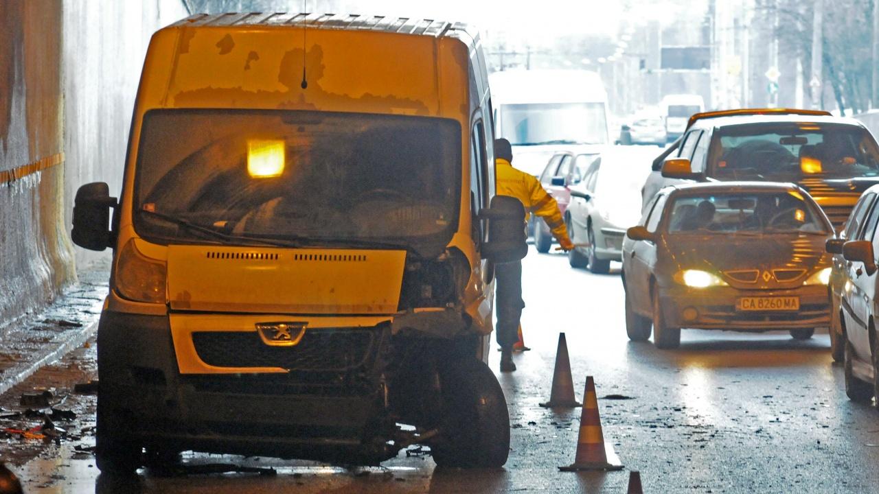 Голяма верижна катастрофа блокира тунела към столичния квартал Люлин
