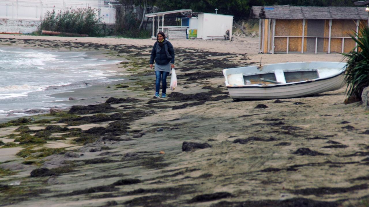 Лошото време отнесе огромно количество пясък от плажа в бургаския кв. Крайморие