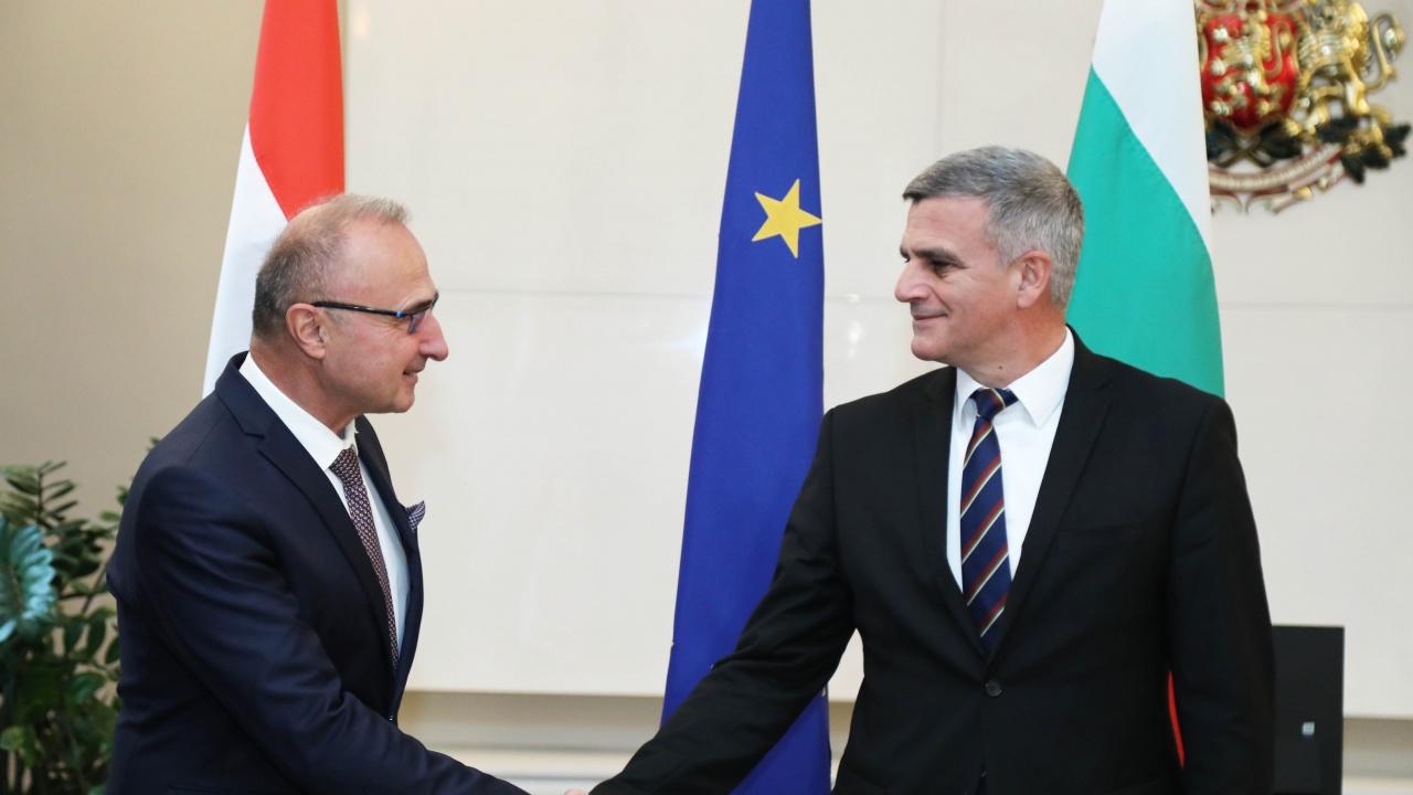 Стефан Янев се среща с хърватския министър на външните и европейските въпроси Гордан Гърлич-Радман