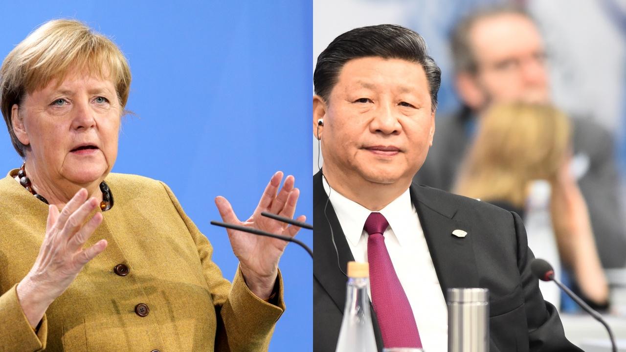 Ангела Меркел разговаря с китайския президент преди срещата на върха на Г-20