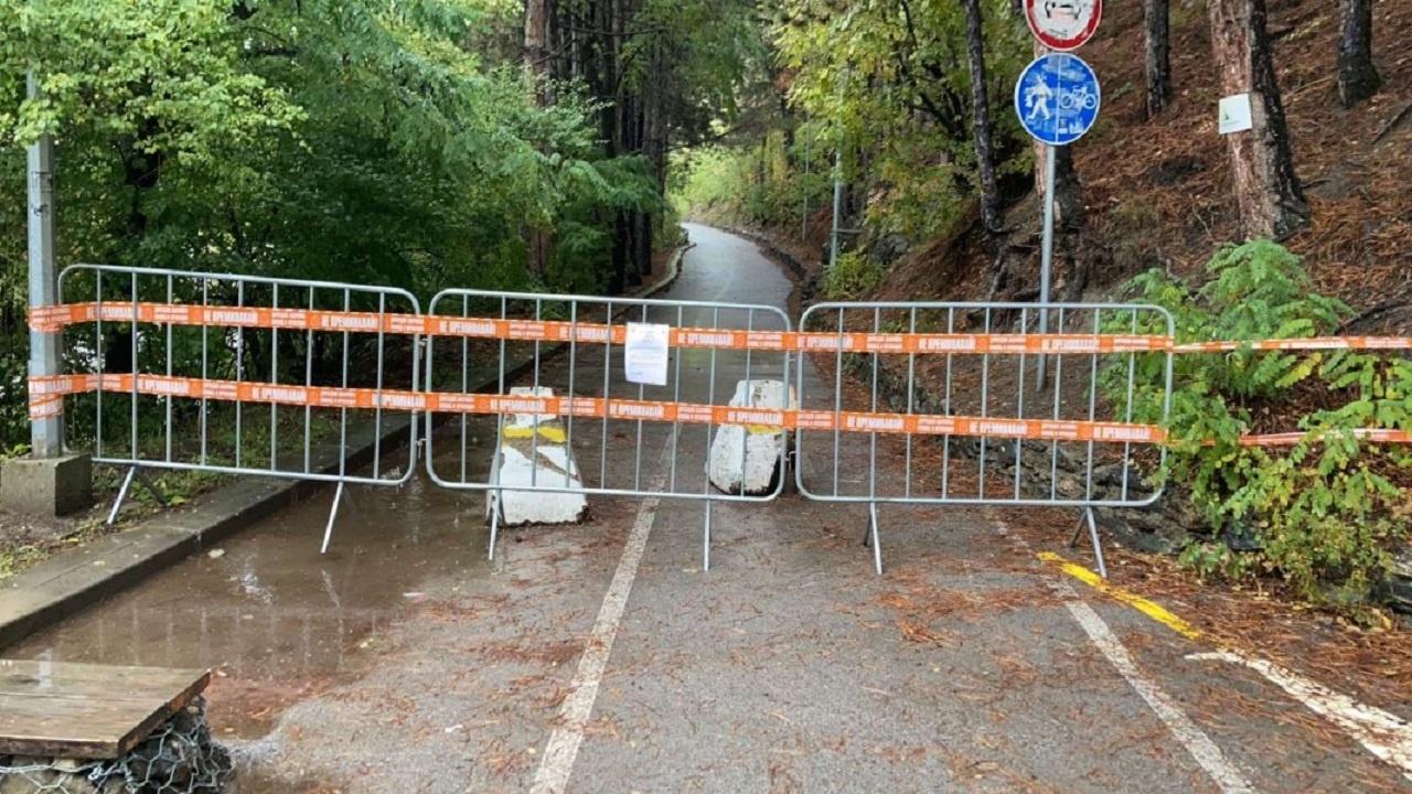 Срутище затвори алея край Панчаревското езеро