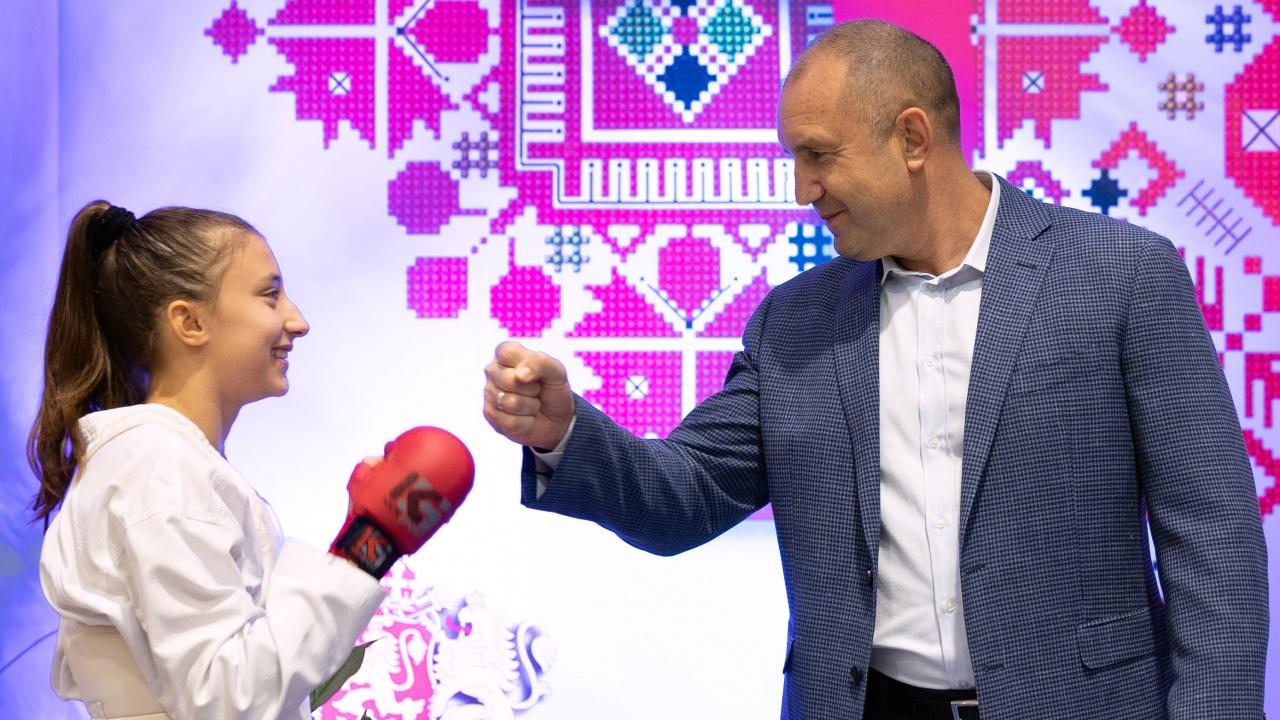Румен Радев: Спортът изгражда характер, калява волята и възпитава в уважение към другия