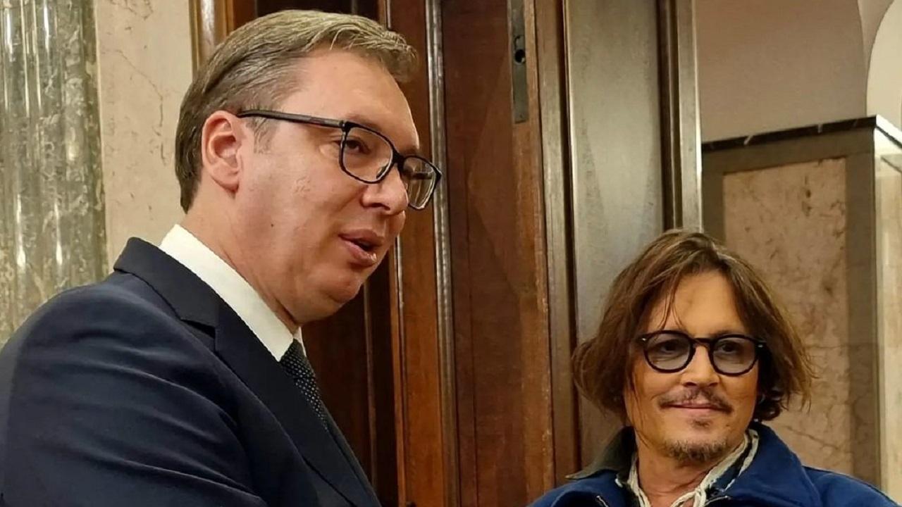 Александър Вучич посрещна Джони Деп в Сърбия