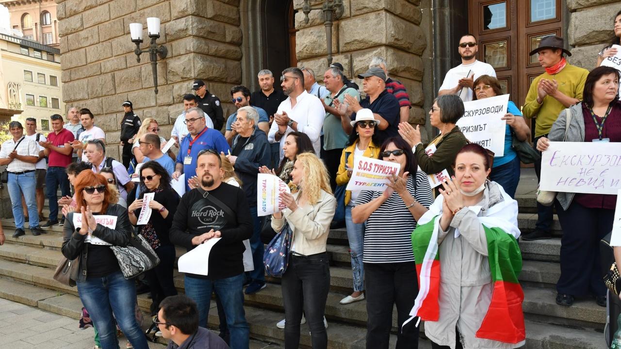 Туристическият бранш отново излиза на протест в София