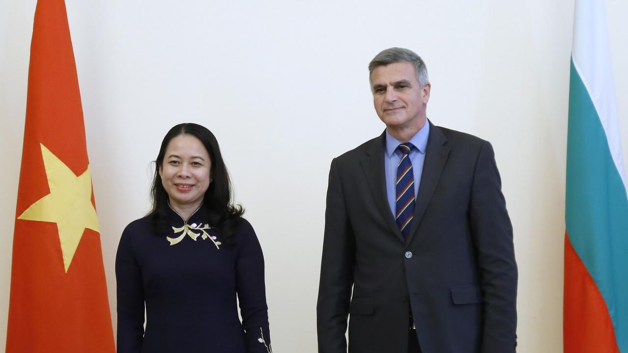 Стефан Янев се срещна с вицепрезидента на Виетнам Во Тхи Ан Суан