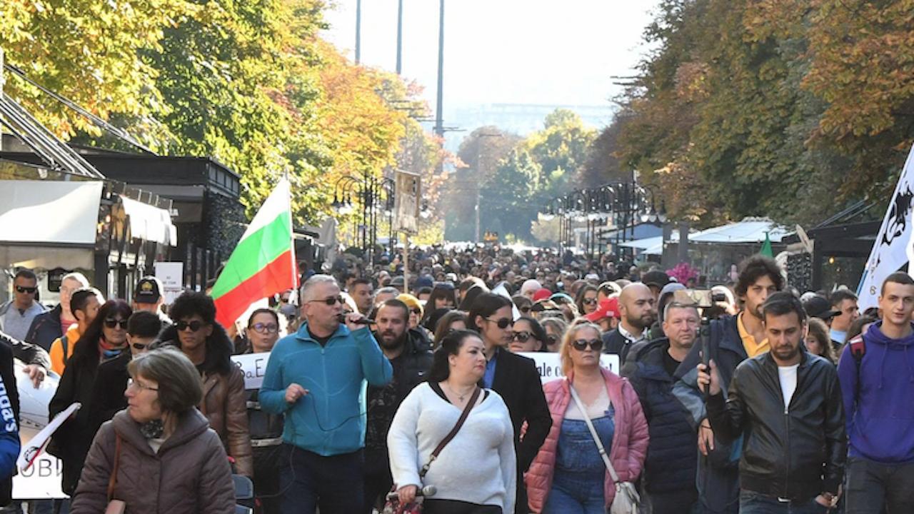 Десетки протестираха във Враца срещу зелените сертификати