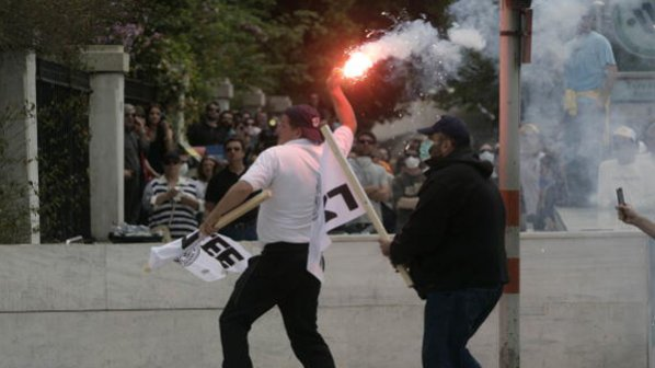 Бой беляза стачката в Гърция