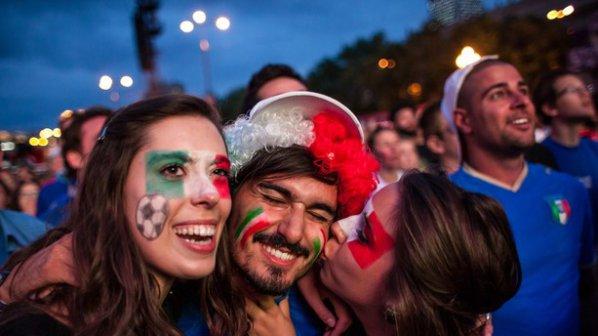 Футболни емоции във Варшава за мача Италия - Германия