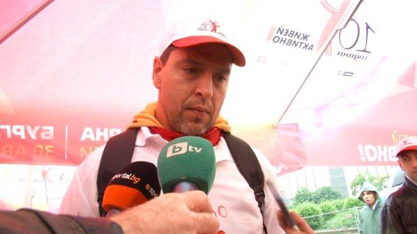 Евгени Иванов: Хубаво е, че дойдоха толкова много хора, въпреки лошото времето