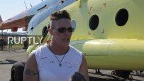 Рускиня премести 8-тонен хеликоптер