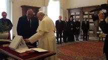 Започна аудиенцията на Борисов при Негово Светейшество папа Франциск
