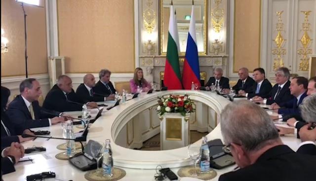 Борисов се срещна  с руския си колега Дмитрий Медведев