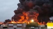 Огромен пожар е избухнал във френски химически завод