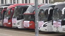 Автобусни и таксиметрови превозвачи излязоха на протест в центъра на София