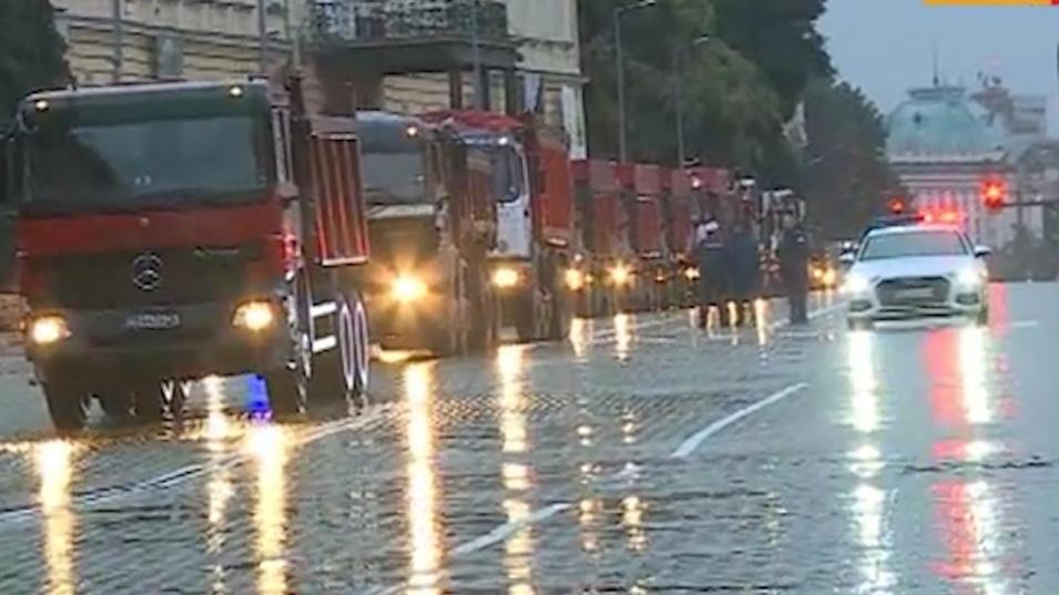 Протест на пътните стоители блокира центъра на София